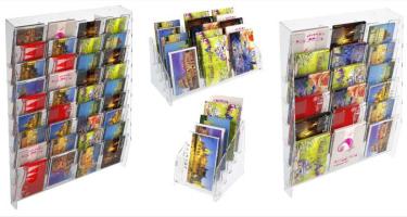 Présentoirs cartes postales et de voeux