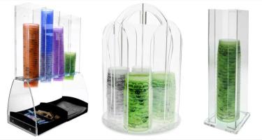 Présentoirs pour pots à glace en carton ou plastique
